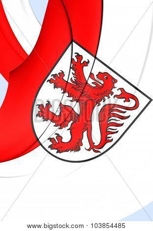 Flag Of Braunschweig City, Germany (lower Saxony).
