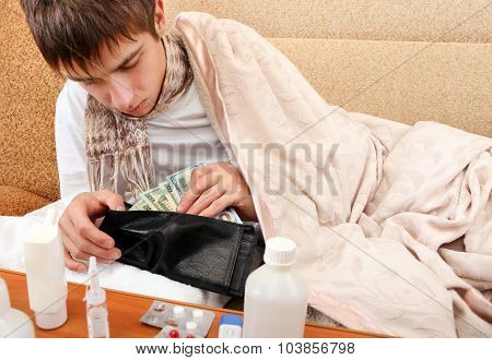 Young Man Check The Wallet