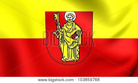 Flag Of Trier City (rhineland-palatinate), Germany.