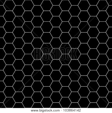 Vector modern seamless geometry pattern honeycomb black and white abstract