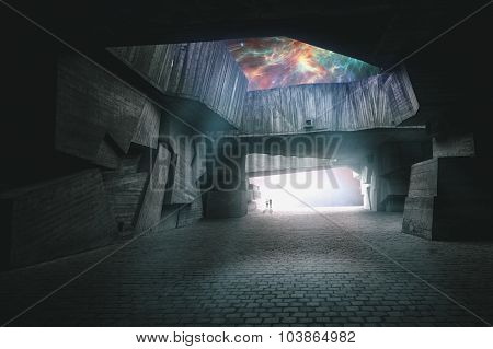 The way to another world. Open your imagination abstract backgrounds