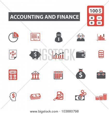accounting and finance icons