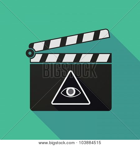 Long Shadow Clapper Board With An All Seeing Eye