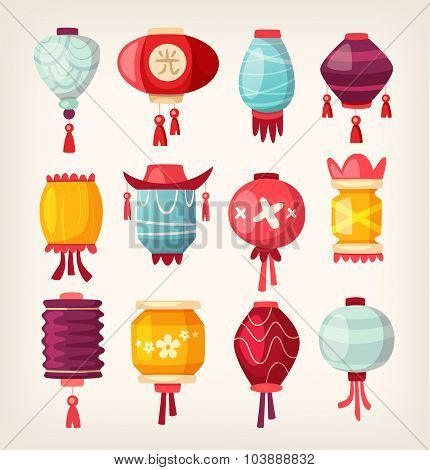 Chinese Paper Hanging Lanterns