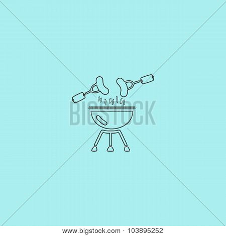 Grill Or Barbecue Icon