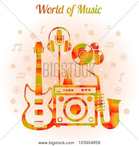 World Of Music Color Concept