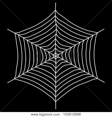 Spyder Web Vector Illustration. Isolated On A Black Background.