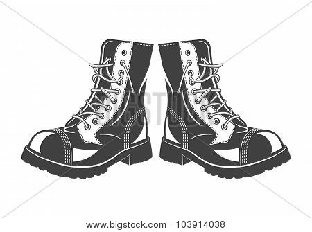 Military jump boots