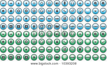 Blue and Green E-Commerce Icons