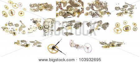 Collection. Clockwork Details On A White Background