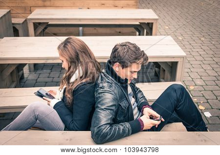 Couple In A Modern Common Phase Of Mutual Disinterest