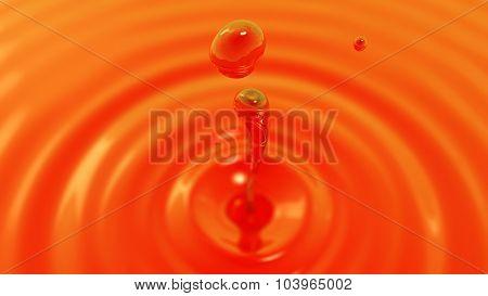 Drop Of Tea Macro With The Focus Effect (drop 2)