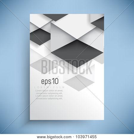 geometric elements concept corporate leaflet business background