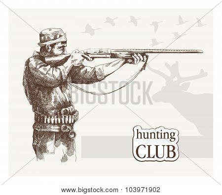 Hunter sees the goal