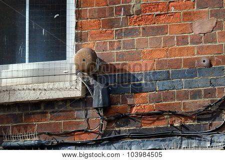 Old fire or burglar alarm system.