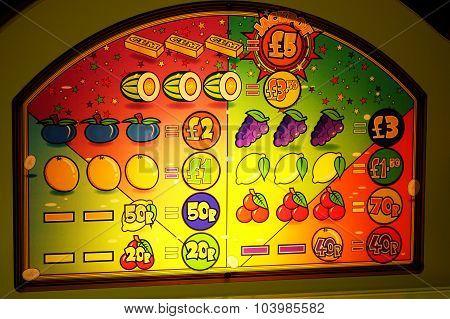 Part of amusement arcade machine.