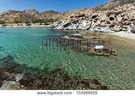 rock formations in kolymbithres beach, Paros island, Cyclades