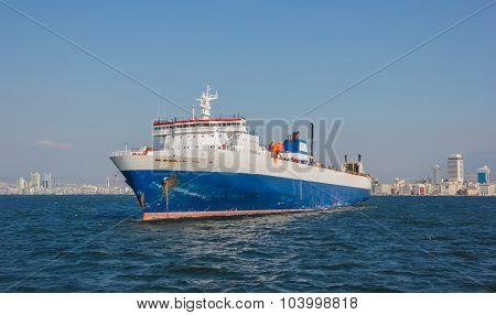 Cargo Ship On Izmir