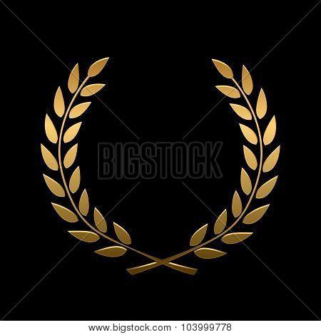 Vector gold award laurel wreath