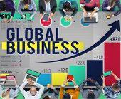 Global Business International Networking Cooperation Concept poster