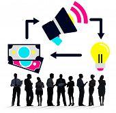 Marketing Promotion Branding Budget Financial Ideas Concept poster