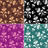 Floral background. Fabric. Image for design and more. poster