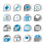 Simple phone  performance, internet and office icons - vector Icon Set poster