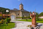 The medieval monastery Raca - Serbia - architecture travel background poster