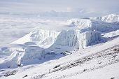 The Southern Icefield seen from the rim of Kibo Mount Kilimanjaro poster