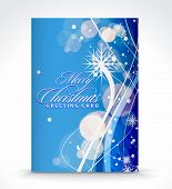 Christmas greeting card with presentation design.vector illustration poster