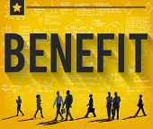 Benefit Income Profit Advantage Welfare Concept poster