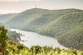 Limski Canal - landmark of Istrian Peninsula Croatia poster