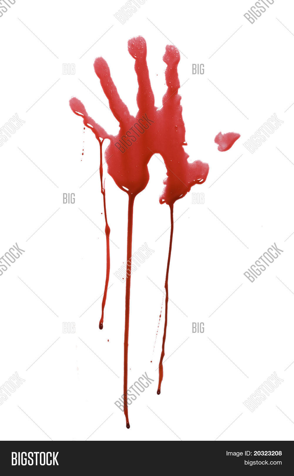 Bloody Handprint Drip Image & Photo (Free Trial) | Bigstock