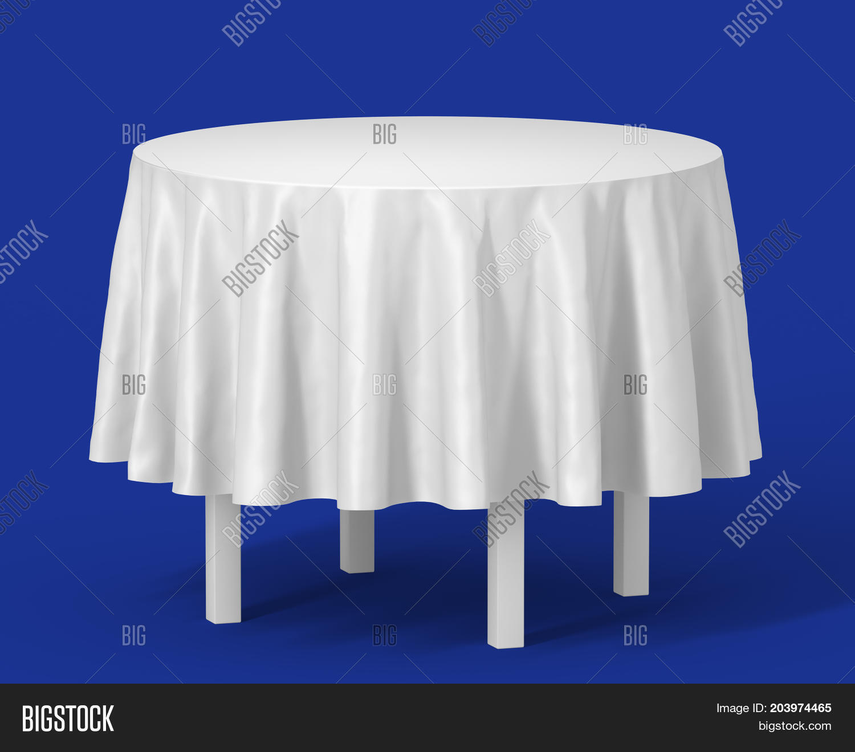 white round isolated table long image photo bigstock