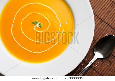 Healthy Butternut Squash Soup.
