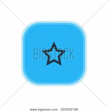 Beautiful Interface Element Also Can Be Used As Asterisk Element.  Vector Illustration Of Star Icon.