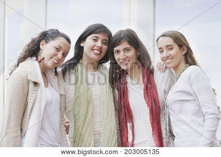 Hispanic women smiling