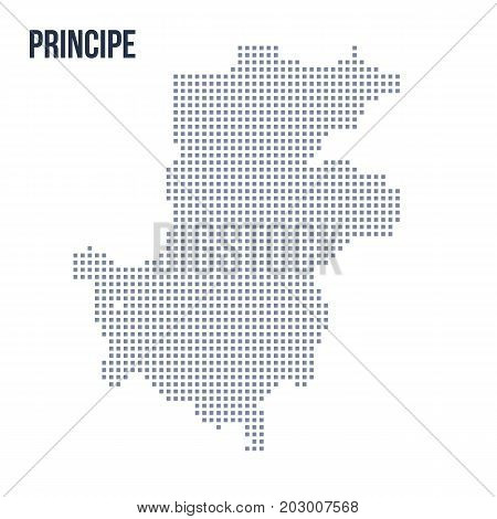 Vector Pixel Map Of Principe Isolated On White Background