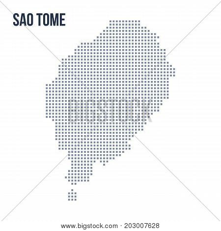 Vector Pixel Map Of Sao Tome Isolated On White Background