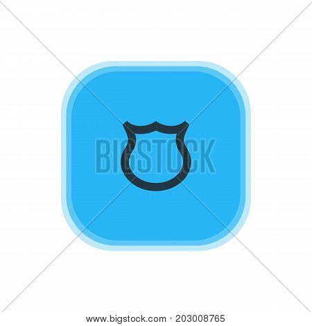 Beautiful Interface Element Also Can Be Used As Shield Element.  Vector Illustration Of Protection Icon.