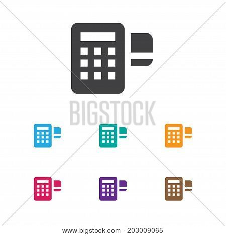 Vector Illustration Of Business Symbol On Card Reader Icon