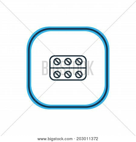Beautiful Medicine Element Also Can Be Used As Pills  Element.  Vector Illustration Of Painkiller Outline.