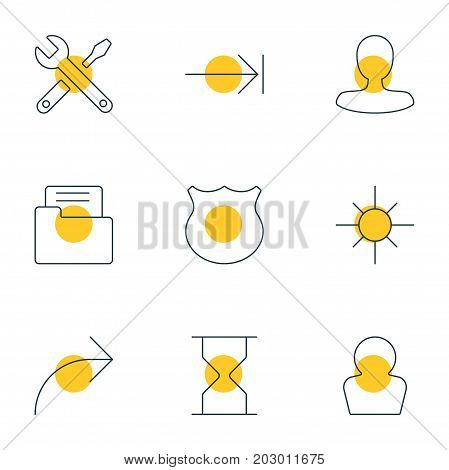 Editable Pack Of Maintenance, Share, Avatar And Other Elements.  Vector Illustration Of 9 Interface Icons.