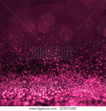 Abstract Pink Glitter Perspective To Blank Background,studio Style Mock Up For Adding Your Product.