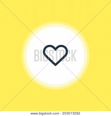 Beautiful Interface Element Also Can Be Used As Heart Element.  Vector Illustration Of Soul Icon.