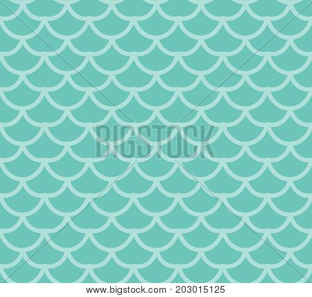 Fish scales seamless pattern. Fish skin endless background, mermaid tail repeating texture. Vector illustration