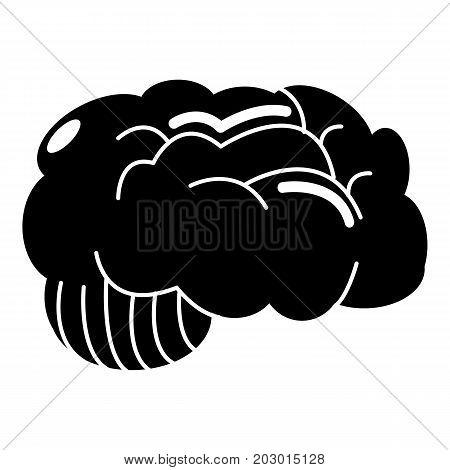 Brain icon . Simple illustration of brain vector icon for web design isolated on white background