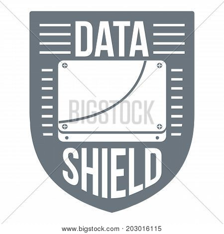 Data shield logo. Simple illustration of data shield vector logo for web design isolated on white background