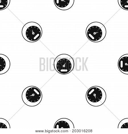 Speedometer pattern repeat seamless in black color for any design. Vector geometric illustration
