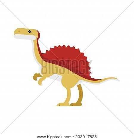 Cute cartoon ankylosaurus dinosaur, prehistoric and jurassic monster vector Illustration on a white background